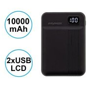 MyMAx MP11 PowerBank 10000mAh vč. LCD Type C/microUSB Black
