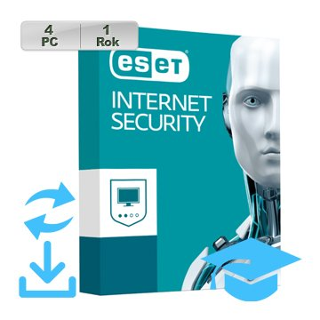 ESET Internet Security 2018 EDU 4PC na 1r Aktu