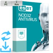 ESET NOD32 Antivirus 2020 4PC na 1r Aktual