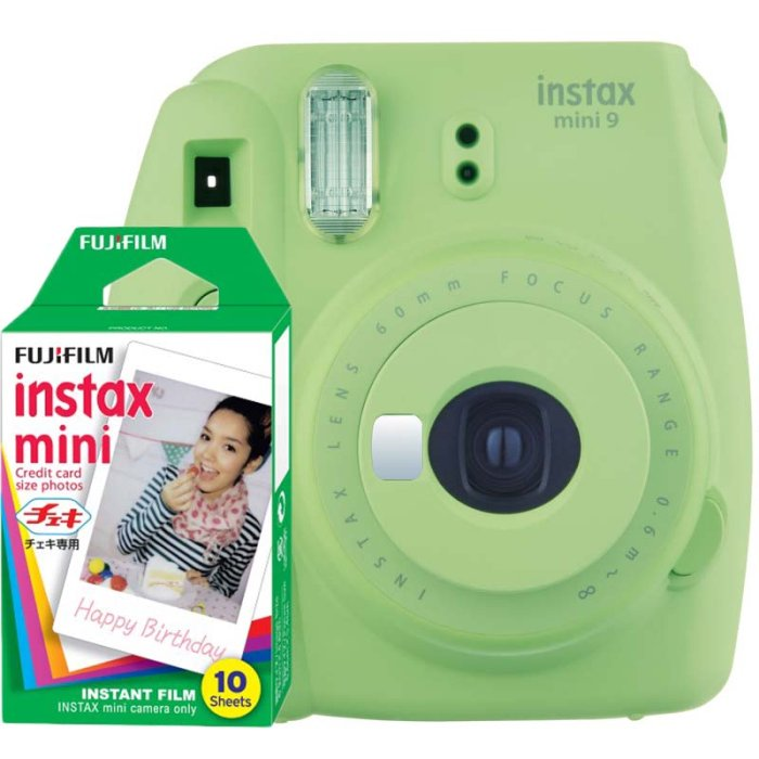 Fujifilm Instax Mini 9 lime green + 10ks film