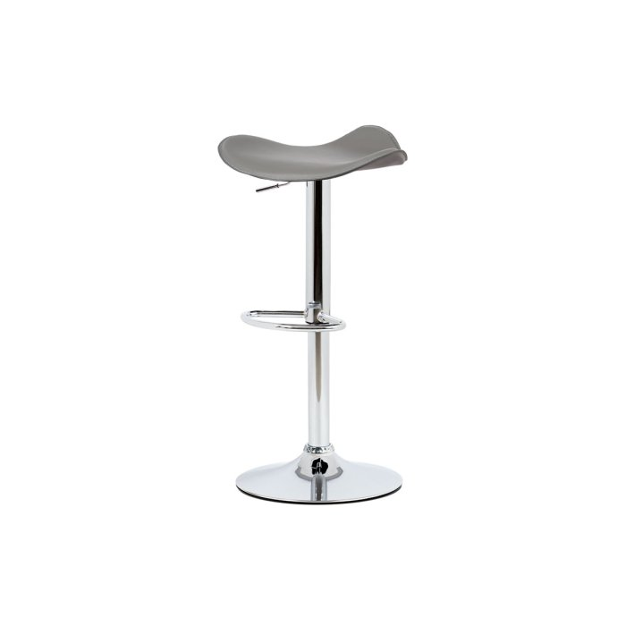 Barstool Grey PVC, chromed base with gas lift