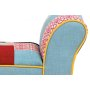 patchwork stool 			same fabric as picture 			KD natural rubber wood legs