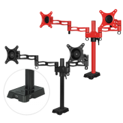 ARCTIC Z2 red - dual monitor arm with USB Hub inte
